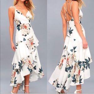 Lulus Blossom Tree high low dress